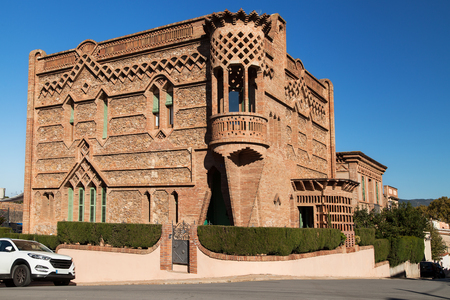 Casa Espinal in Colonia Guell, Barcelona province, Spain.