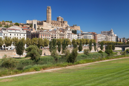 Old City of Lleida, Catalonia. Фото со стока