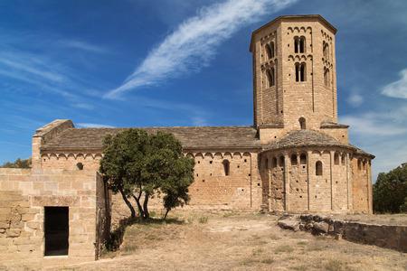 교회의 산트 Pere 드 Ponts, Lleida 지방, 카탈로니아. 스톡 콘텐츠