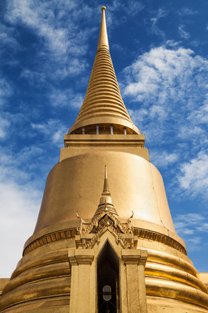 Golden Chedi at Wat Phra Kaew, Bangkok, Thailand.