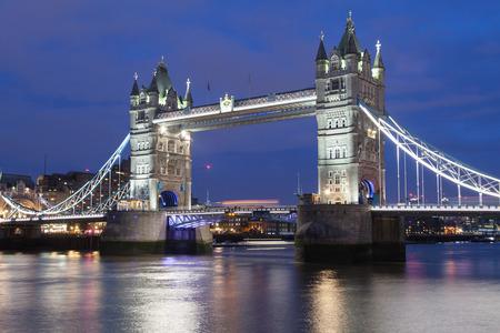 Tower Bridge at night, London, United Kingdom.