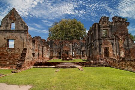 Ruins of the Vichayen House in Lopburi, Thailand.