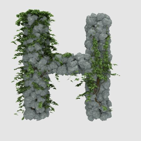 covered: Rock ivy covered with letter H