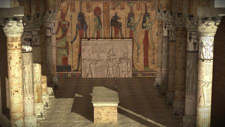 3d render Ancient Egypt temple Archivio Fotografico