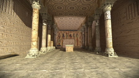 Ancient Egyptian temple 3d rendering