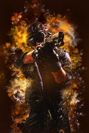 special forces soldier police, swat team member Stok Fotoğraf - 116855372
