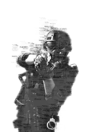 special forces soldier police, swat team member Stok Fotoğraf - 116855540