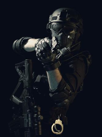 special forces soldier police, swat team member Stok Fotoğraf - 116855557
