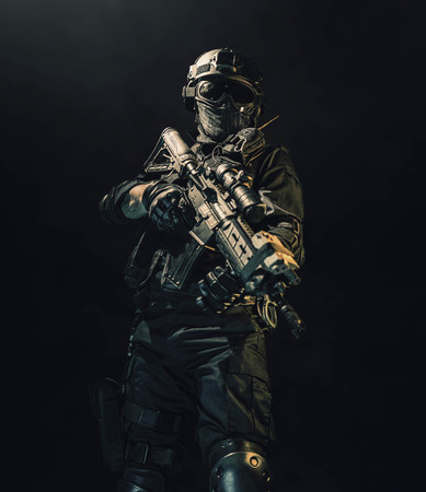 special forces soldier police, swat team member Stok Fotoğraf