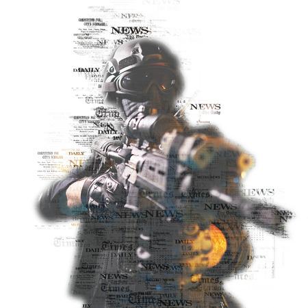 special forces soldier police, swat team member Stok Fotoğraf - 116855618