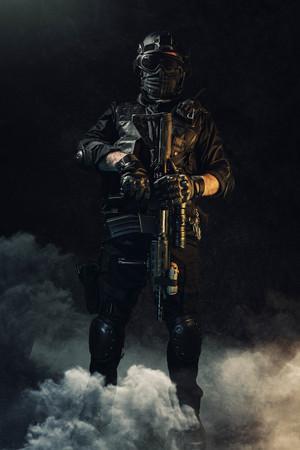 special forces soldier police, swat team member Stok Fotoğraf - 116855619