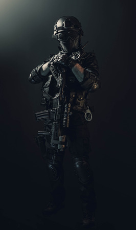 special forces soldier police, swat team member Stok Fotoğraf - 116855315