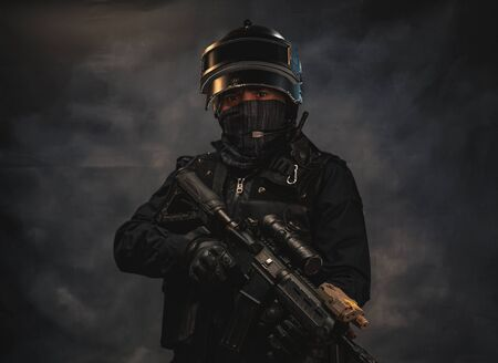 special forces soldier police