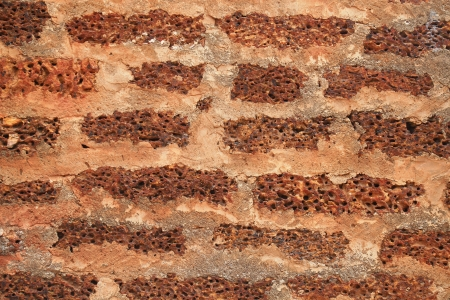 sephardi: Laterite wall background  Stock Photo