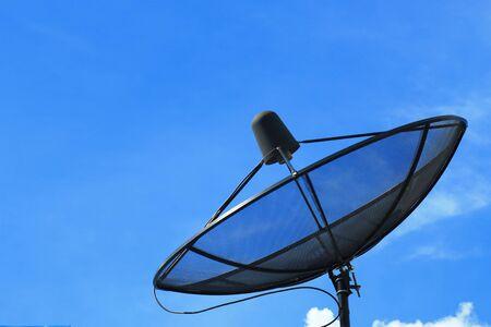 Satellite Dish With Blue Sky Stock Photo - 15490387