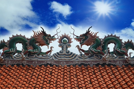 twin dragon on the roof photo