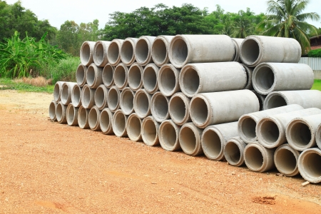 Stacked concrete drainage pipe  Stock Photo - 23174783