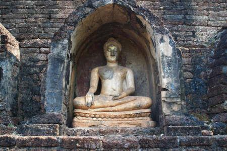 Buddha Statue in Sisatchanalai Historical Park, Sukhothai, Thailand  photo