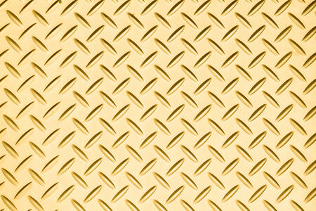 Texture of Gold  Steel Floor Plate for Background Stock Photo