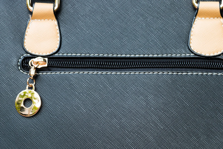 zipper on a textile background photo