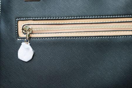 zipper on a textile background photo