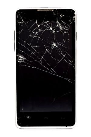 Broken mobile phone Zdjęcie Seryjne
