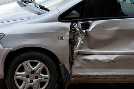 fender bender: car in an accident