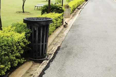 Bins in a park