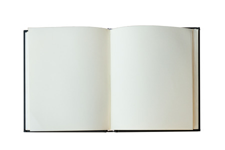 isolated open book on white backgfound