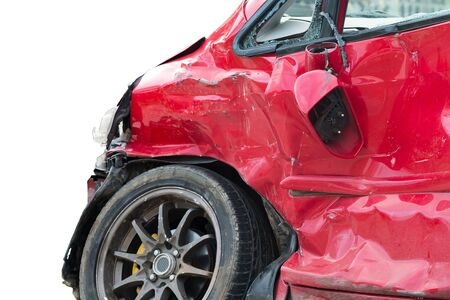 fender bender: dicut red car in an accident