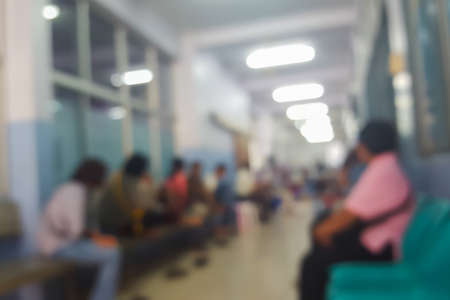 hospital patient: Abstract blur patient waiting in hospital background Stock Photo