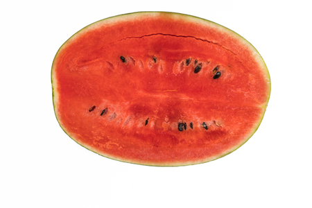 melons: water melons isolated on white background Stock Photo