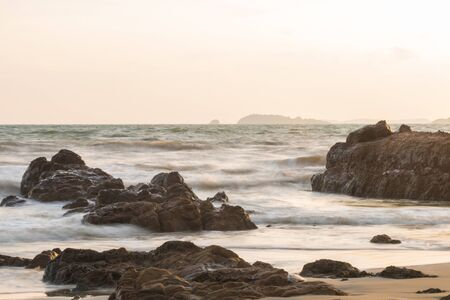 seas: Stormy seas and crashing waves on rock
