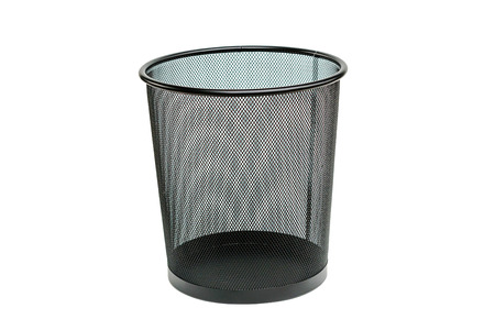 garbage bin isolated on white background 스톡 콘텐츠