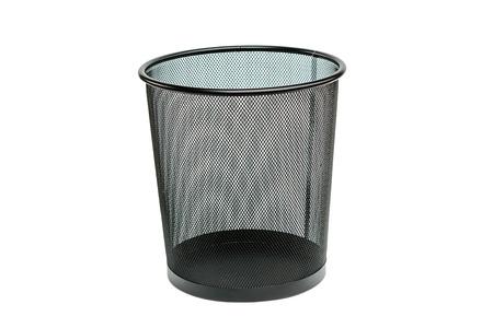 garbage bin isolated on white background Archivio Fotografico