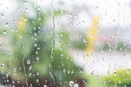 water drop on window glass Stock Photo