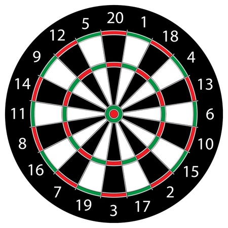 Classic Darts Board Illustration
