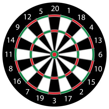 Classic Darts Board Illustration