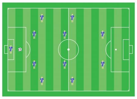 4-4-2 soccer tactical scheme