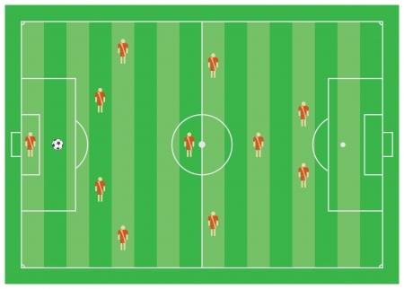 4-3-1-2 soccer tactical scheme