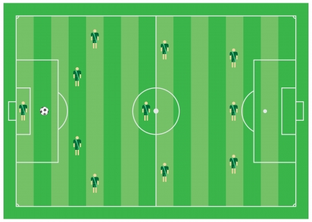 4-3-3 soccer tactical scheme