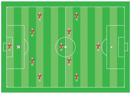 4-5-1 soccer tactical scheme