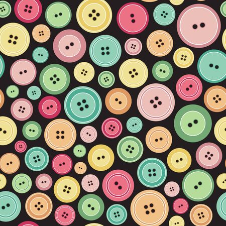 Colorful Sewing Buttons As Seamless Pattern Illustration