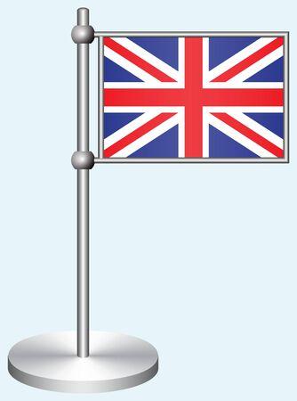 drapeau angleterre: Drapeau de la Grande-Bretagne avec le stand en métal