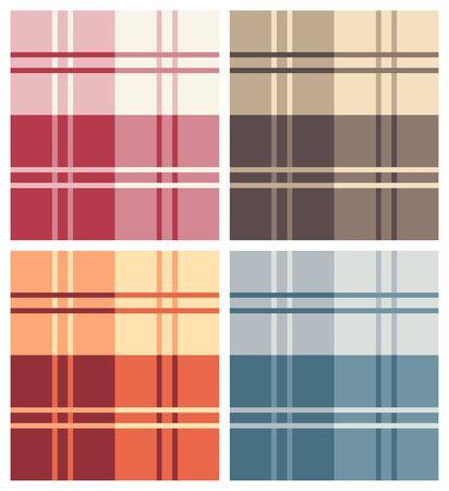 Set of Vaus Multicolor Types of Square Pattern Fabrics Stock Vector - 18819859