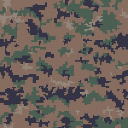 camouflage clothing: Seamless Digital Camouflage Pattern