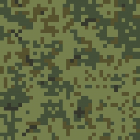 Naadloze Digitale Camouflage Pattern Stock Illustratie