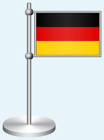 Germany Flag with Metal Stand Illustration