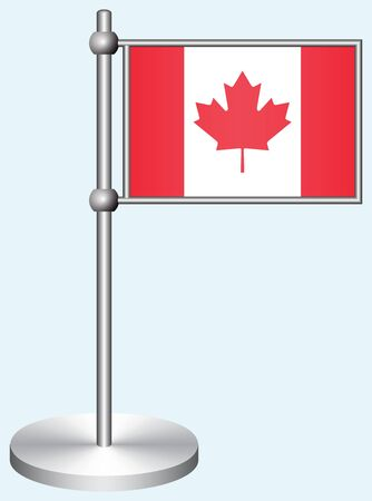 Canada Flag with Metal Stand