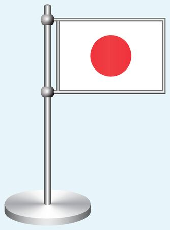 Japan Flag with Metal Stand
